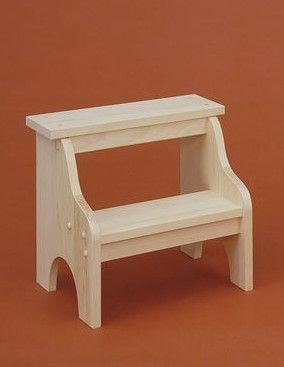 unfinished pine stool