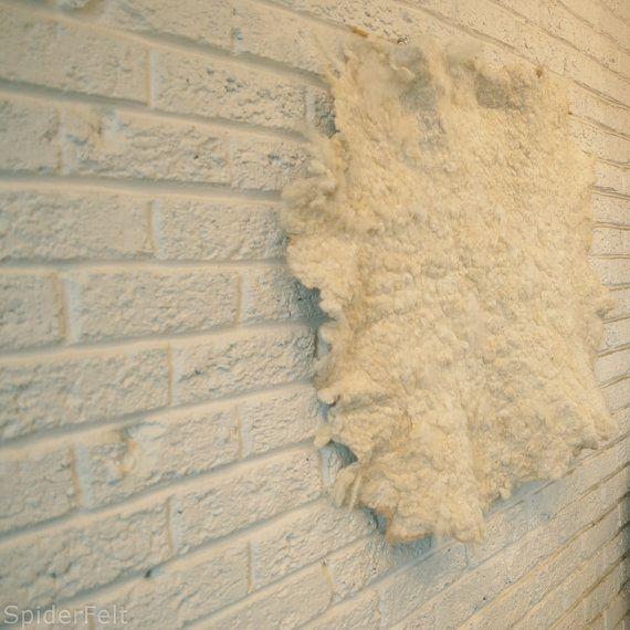 Natural Cream Wool Felt Wall Hanging by kneek on Etsy, $180.00