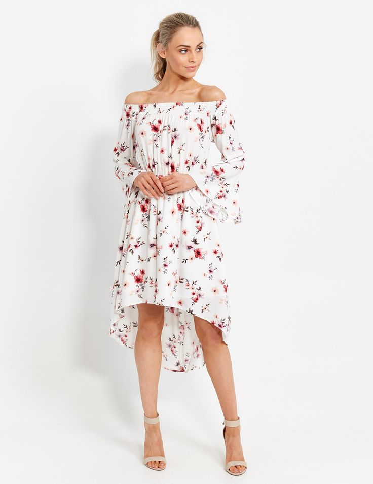 Marguerite Floral Shoulder Dress | Dotti NZ