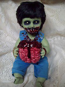 Zombie Baby Snacking Sammy Halloween Haunted House Prop | eBay
