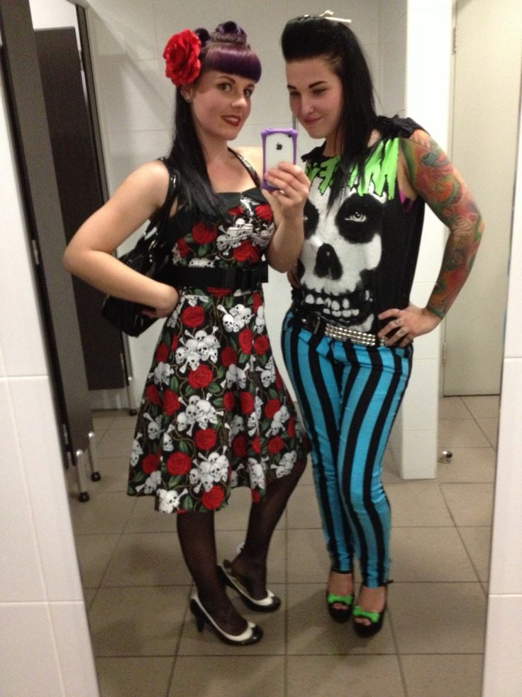 Lesleys Little Shop dress Skull and roses fabric Pin up rockabilly