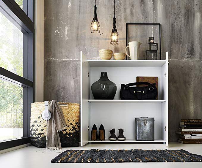 Landhaus-Stil Aufbewahrungsregal mit Schubladen Holzregal Flur Anrichte FineBuy Standregal Kanpur 50 x 35 x 116 cm Massiv Holz Kommode Mango Natur