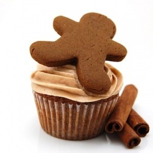 Gingerbread Cupcakes with Cinnamon Cream Cheese Frosting...this needs ...