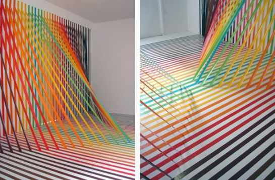 Rebecca Ward's Intricate Tape Installations | Beautiful/Decay Artist & Design