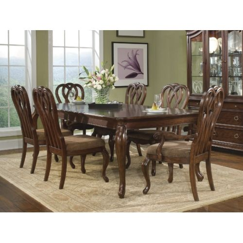 Furniture Of America Dubelle 7 Piece Formal Dining Set: Heritage Court Leg Table And 4 Side Chairs At HOM