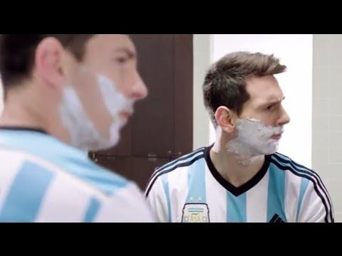 Lionel Messi & Roger Federer in ad for Gillette. - YouTube