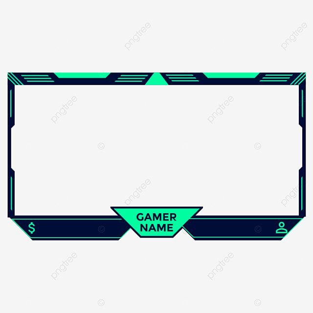 Twitch Face Cam Frame Live Streaming Overlay With Gaming Style Also Can Be Used For Obsgaming Game Stream Live Png And Vector With Transparent Background Fo Streaming Setup Overlays Cool Gamer