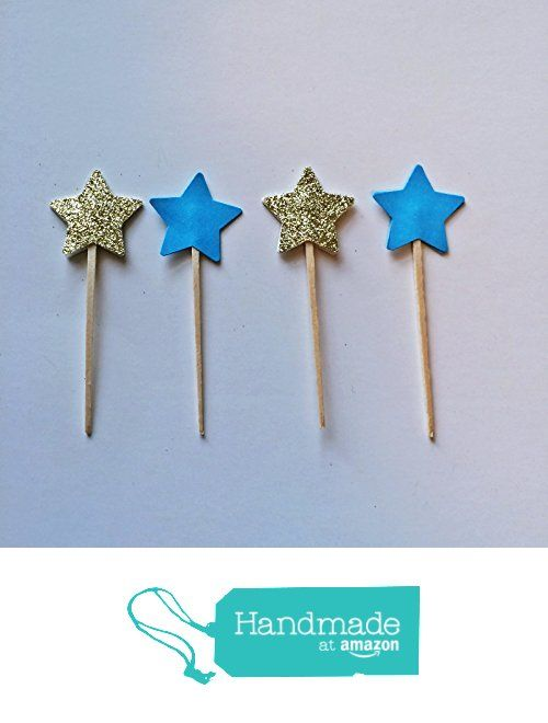 Set of 24 Star Cupcake Toppers, Gold Cupcake Toppers, Glitter Cupcake Toppers, Gold Stars, Party decoration, twinkle twinkle, little star cupcake toppers, 3 inch cupcake topper, Birthday Party from Everyday Designs and Events https://www.amazon.com/dp/B01N21O2Z8/ref=hnd_sw_r_pi_dp_jIxEyb3ABCKDN #handmadeatamazon