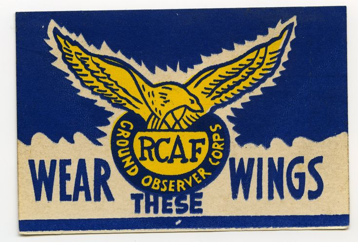 RCAF Ground Observer Corps Sticker - Wear These Wings