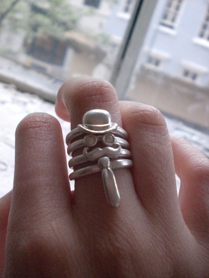 Monsieur Sterling Silver Stack Ring