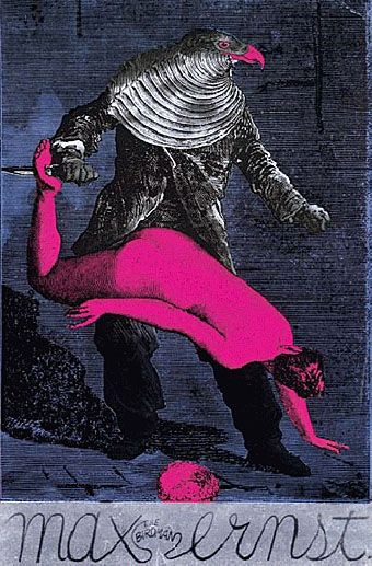 Max Ernst- love it. He was inspired by the art of psychotics and attempted to be just as free of repression in making art as they were