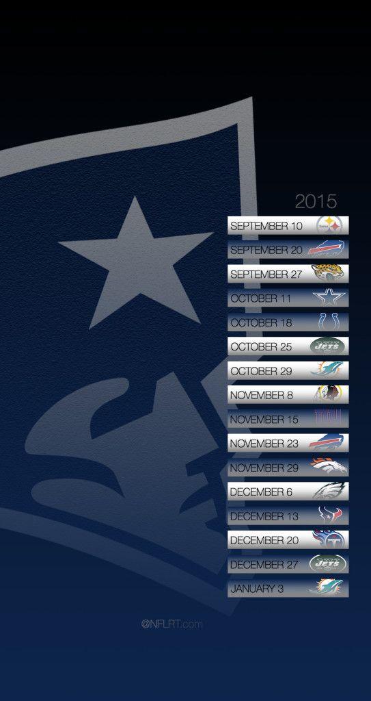 Patriots Schedule 2015