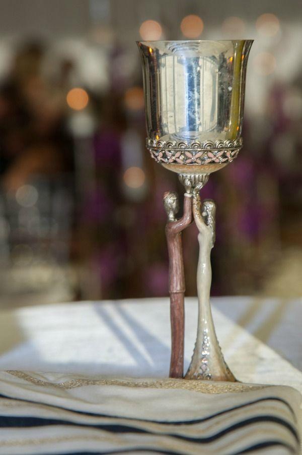 Gorgeous Bride & Groom Kiddush Cup - Jewish Wedding Ceremony Judaica {Jeff Kolodny Photography} - mazelmoments.com