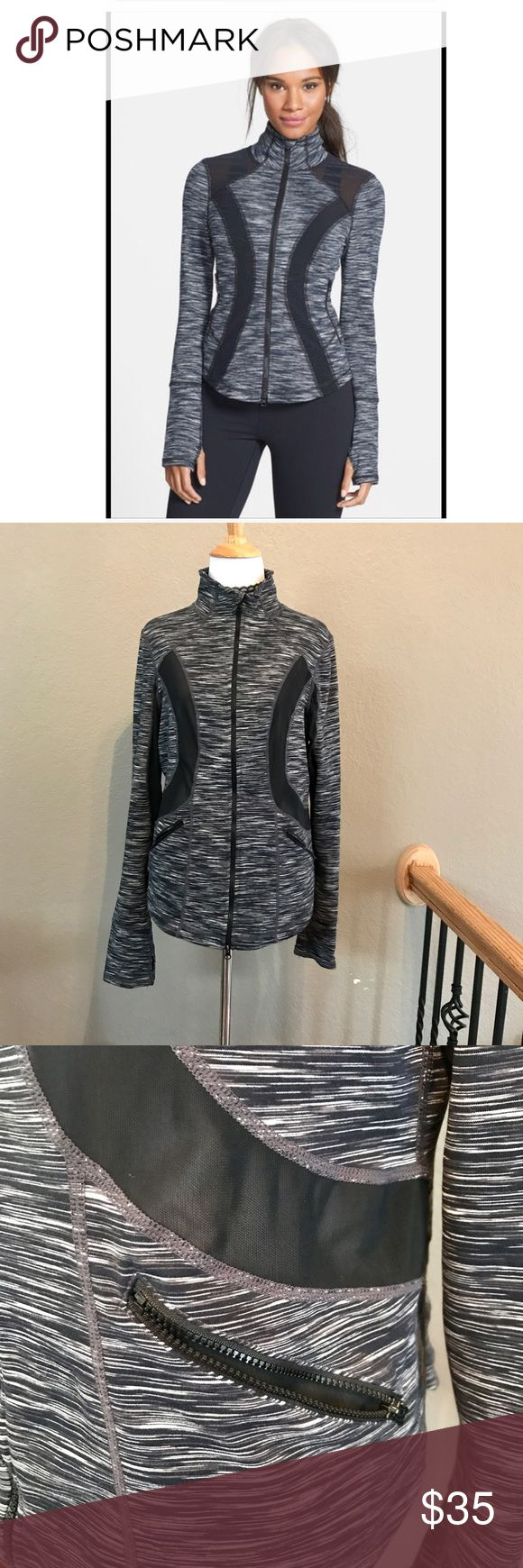Zella Halo training jacket First photo is similar Nordstrom stock photo.In excellent preowned condition.No stains no snags.Size L Zella Tops Sweatshirts & Hoodies