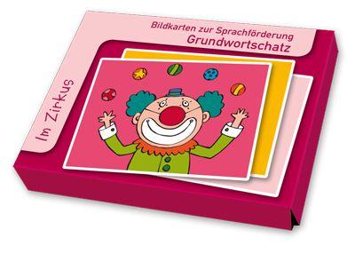 """Bildkarten zur Sprachförderung - Grundwortschatz: Im Zirkus ++ Manege und Vorhang, Löwe, Seiltänzerin oder Clown … Welche Tiere gibt es in einem Zirkus? Was braucht ein Zauberer zum Zaubern? – In diesem Bildkartenset finden Sie 32 Begriffsmotive aus dem Wortfeld """"Zirkus"""" und kommen spielerisch mit den Kindern über dieses Lieblingsthema ins Gespräch. #Sprachförderung #Grundschule #Kindergarten #DaZ"""