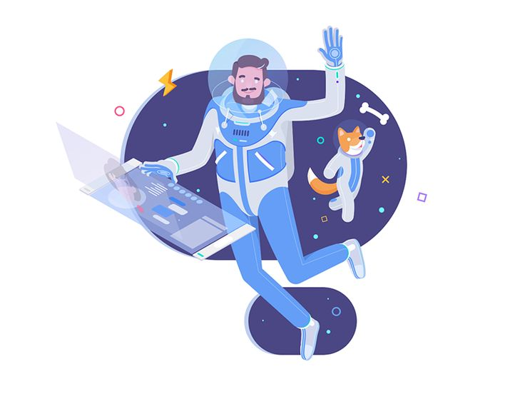 Illustration for HireOrbit new website.