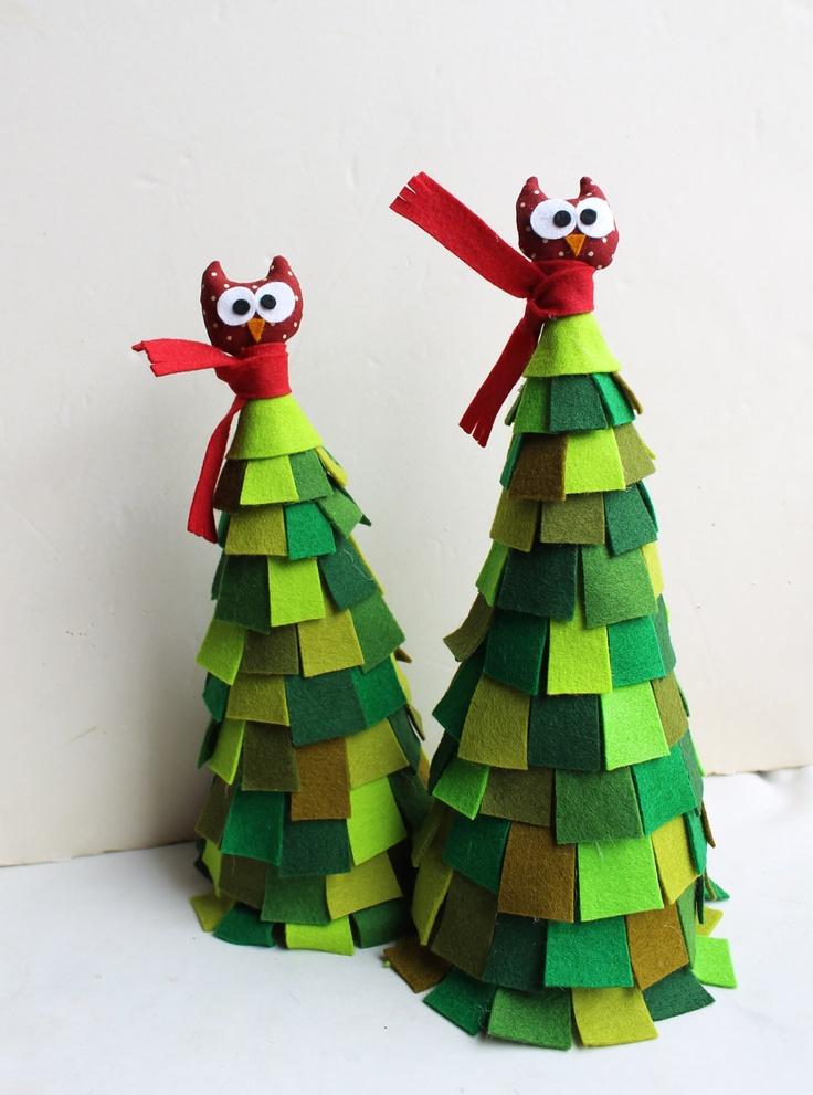 Christmas felt tree. Two, via Etsy.