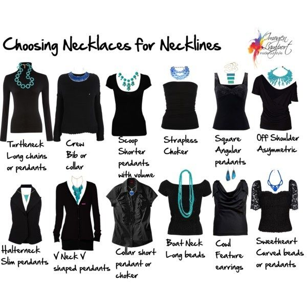 This is super helpful! Guide to necklines + necklace combinations