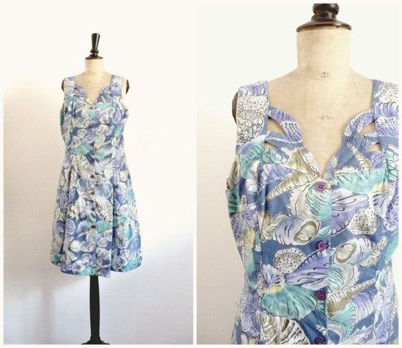 Vintage Années 80-90 ISHWAR Robe Dos Nu par CeliaVintageStars