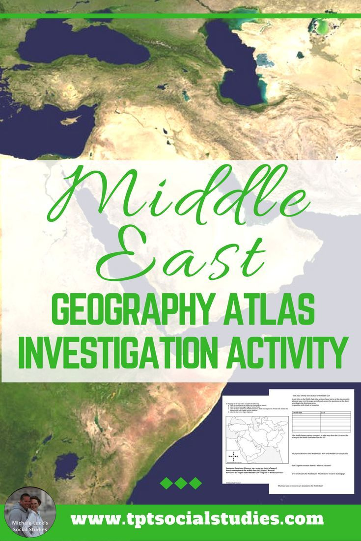 Do you need a student-centered activity for investigating the geography of the Middle East? Take a look at this ready-to-go resource for your middle or high school classroom. #teaching #geography #middleeast