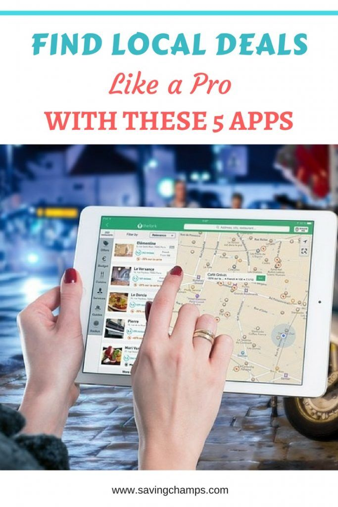 Use these 5 local deal apps to find best deals in your local area. Save money with apps, money-saving tips, money-saving resources.