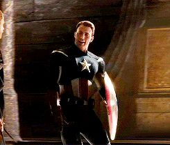Chris impersonating Tom who's playing Loki impersonating Captain America. Marvel-ception. (GIF set)