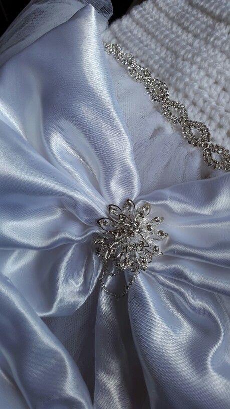 Crochet white tutu dress