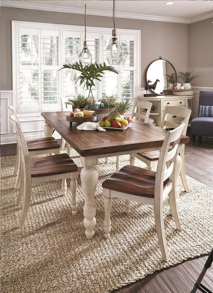 Dining Room Table And Chairs Makeover Strumfeld Ashley Furniture