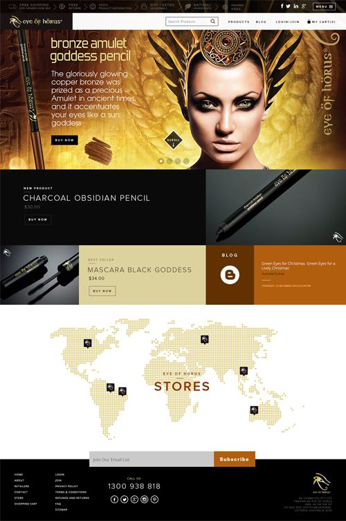 Accenza had designed & developed the website - Eyes of Horus. The website is all about eye related cosmetics & products for women...