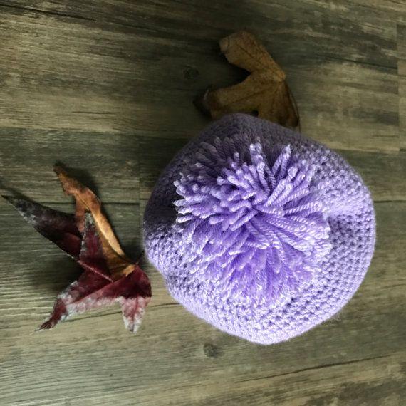 Pom-Pom Crochet Beanie Hat for Kids