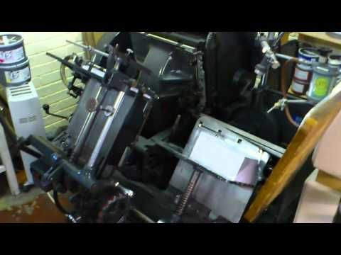 Thompson Auto Platen Letterpress Machine