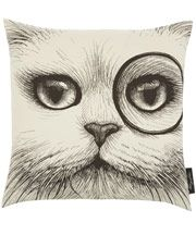 White Cheshire Cat Cushion