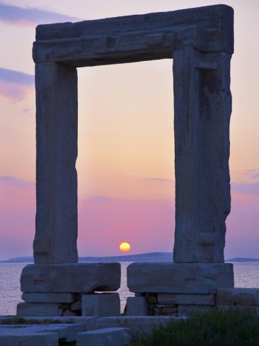 Gateway, Temple of Apollo, Archaeological Site, Naxos, Cyclades, Greek Islands, Greece, Europe
