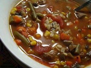 Vegetable Beef With Barley Soup ~ Crockpot Style