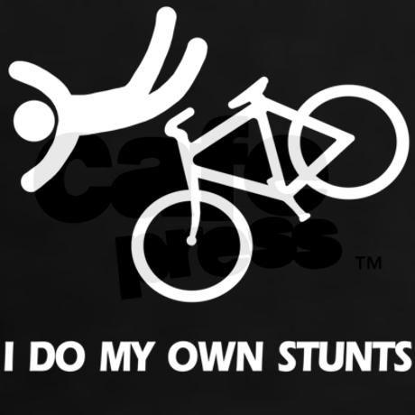 Bike, bike, funny biker stunt Women's Dark T-Shirt