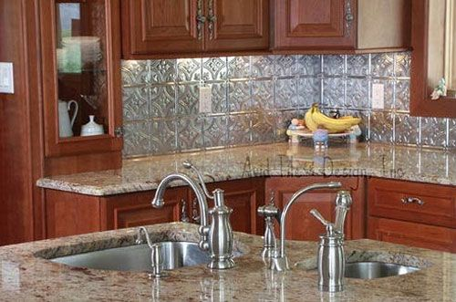 Wallpaper For Kitchen Countertops : Wallpaper kitchen backsplash ideas with