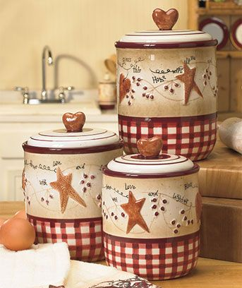 primitive kitchen canisters 1000 images about primitive amp country dinnerware 14637