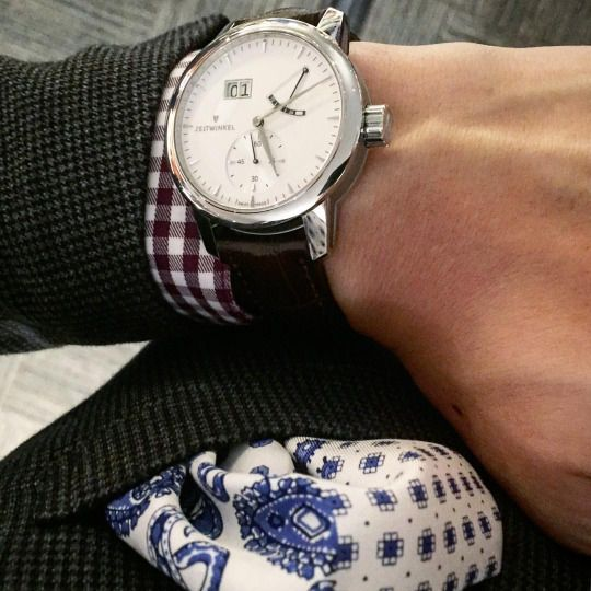 Stunning picture of the 273° silver by quannyg on tumblr.   Great talk by @hirota_masayuki about Zeitwinkel watches. Zeitwinkel 273゜on the wrist.  広田さん、本当にありがとうございました!  #Zeitwinkel #watches #luxury #watch #watchmaking #fashion #suit #pocketsquare #時計 #伊勢丹 #ウオッチ #ファッション #高級 #スーツ #japan #travel #isetan #日本 #旅行 (at 伊勢丹 メンズ / ISETAN)