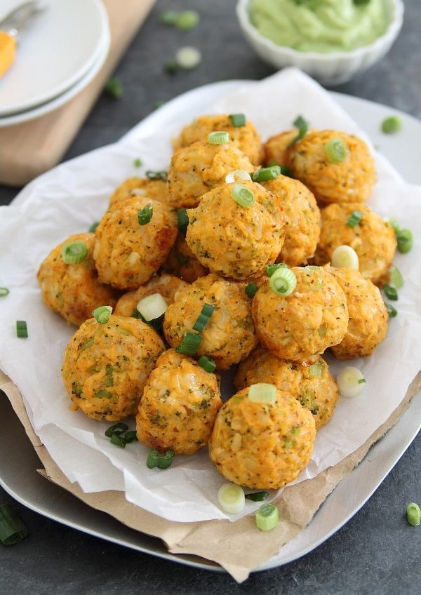 Buffalo Chicken Cheddar Bites. Serve with an avocado dipping sauce for game day!