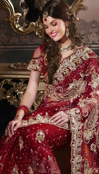 Reds, blues, greens, and golds. That'll be my dream wedding saree.