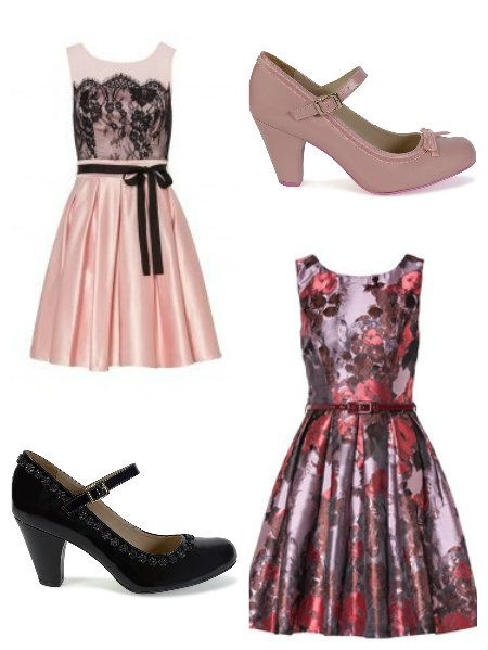 Review Australia #vintagestyle dresses can be worn with the #Cristofoli shoes spring2015. The pink July or the black shiny one.