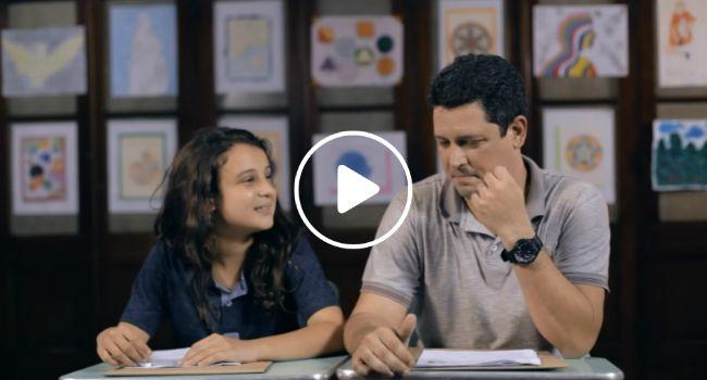 Campanha Desafia Pais a Fazerem a Mesma Prova Que Os Seus Filhos. O Resultado é Emocionante