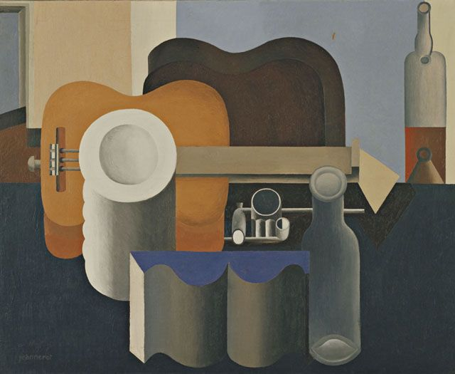"""Le Corbusier (Charles-Edouard Jeanneret) (French, born Switzerland. 1887-1965). Nature morte (Still life). 1920. Oil on canvas. 31 7/8 x 39 1/4"""" (80.9 x 99.7 cm). The Museum of Modern Art, New York. Van Gogh Purchase Fund, 1937. © 2013 Artists Rights Society (ARS), New York / ADAGP, Paris / FLC"""