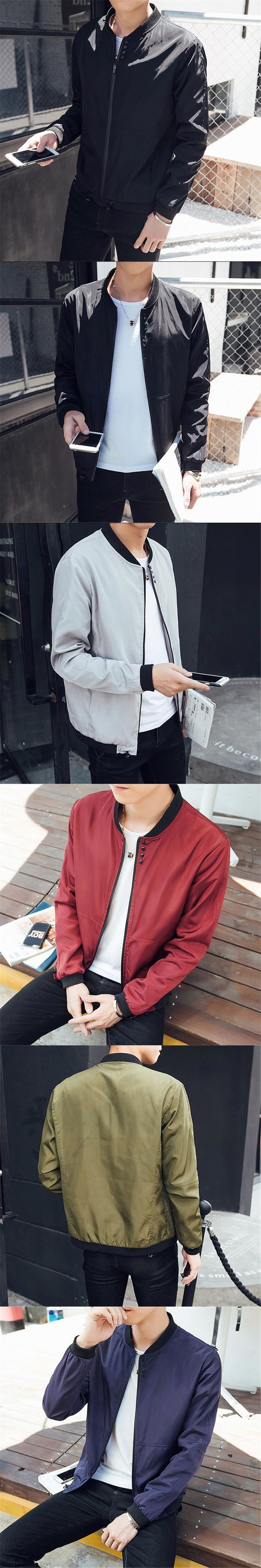 Hot Sale Brand Jacket 2017 New Fashion Men Clothes Trend College Slim Fit High-Quality Casual Mens Jackets And Coats M-5XL