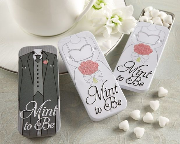 Awesome Bride and Groom wedding reception favors.