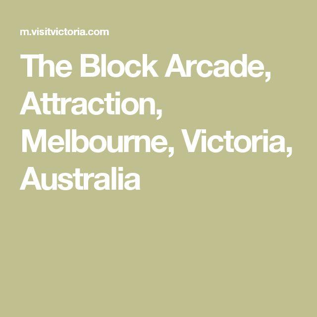 The Block Arcade, Attraction, Melbourne, Victoria, Australia