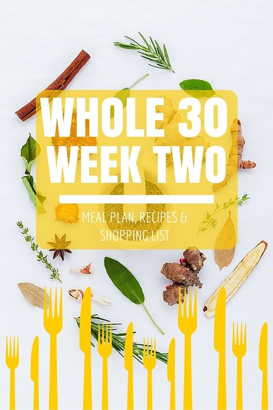 A week's worth of whole 30 recipes, a shopping list and the meal plan! FREE!