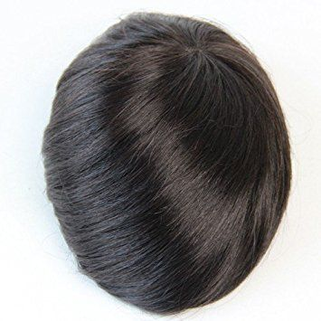 Human Hair Toupee 8×10 Inches Full Pu Thin Skin Base Men Toupee Hair Piece (color 1b) Review