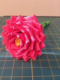 Duct Tape Flower Pen #upcycle #office_supplies