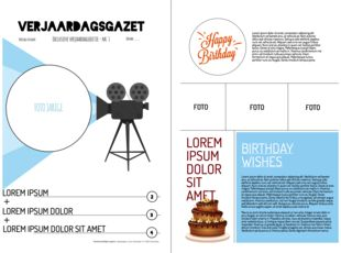 Leuk alternatief voor een verjaardagskaart is zelf een krant maken. Een persoonlijk geschenk met heel veel mogelijkheden: artikels, fotocollages...